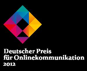 Gewinner Deutscher Preis für Online-Kommunikation 2012